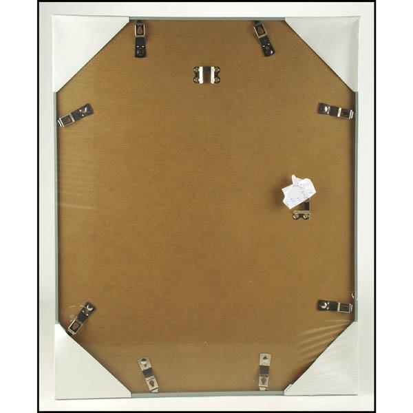 28 083329 bilderrahmen 40x50cm silbern kunststoff glas. Black Bedroom Furniture Sets. Home Design Ideas