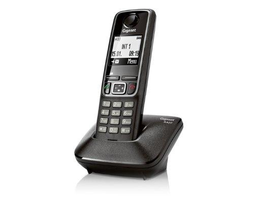 Siemens Gigaset A420 DECT Schnurlostelefon mit Ladestation schwarz