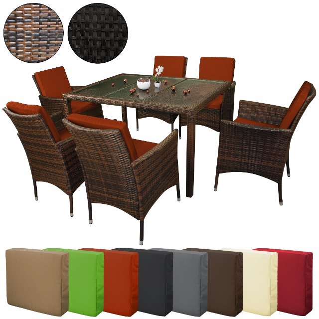 rattan essgruppe cool rattan set amazonde poly rattan essgruppe rattan set mit glastisch. Black Bedroom Furniture Sets. Home Design Ideas