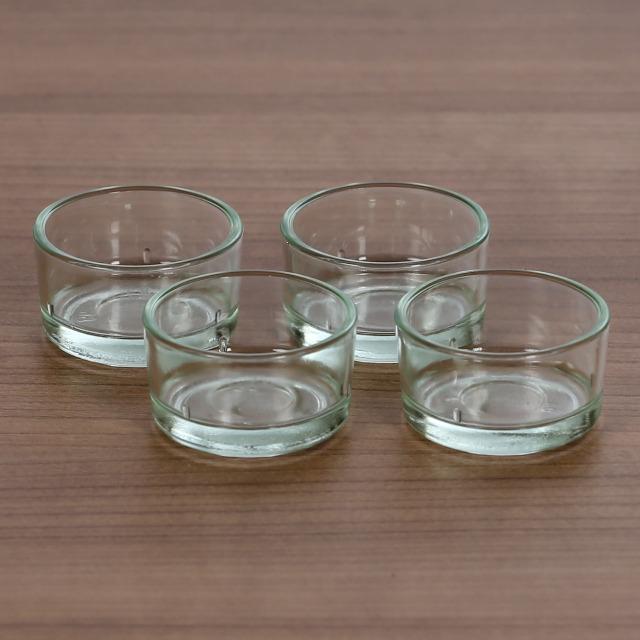 Teelichthalter, Teelichtgläser 40mm - Teelicht Glas Tülle für Standard Teelichtkerzen