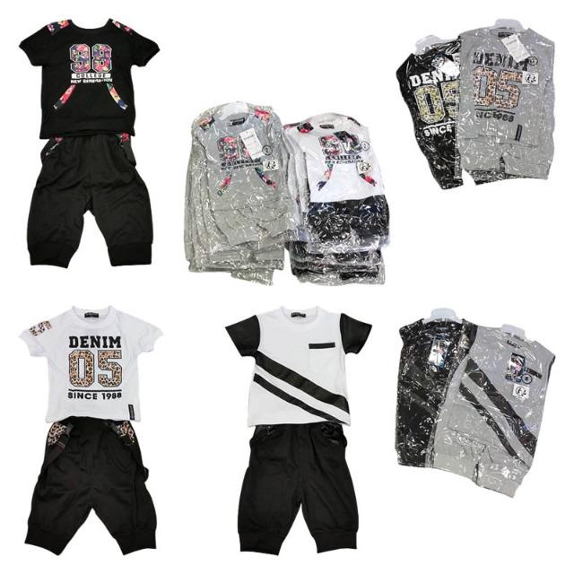 Kinder Jungen Sport Trikot Hosen Sets Mix