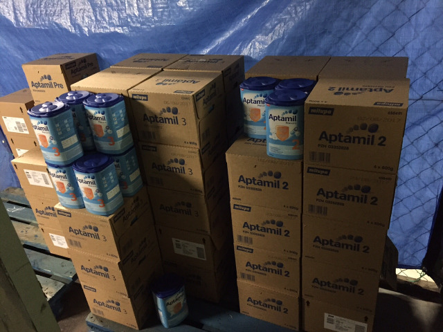 Lebensmittel & Getränke Großhandel: Aptamil Pre, 1, 2 & 3