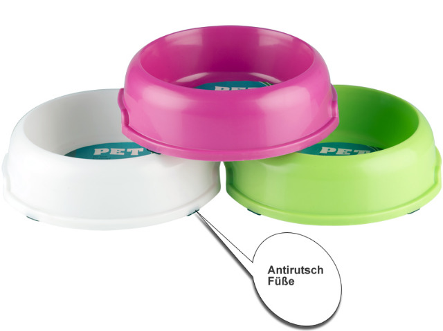 22-20083, Freßnapf aus Kunststoff 900 ml, mit Antirutsch-Füßen ideal für für Heim und Reise