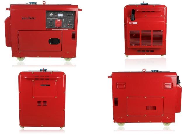 Dieselgenerator Starkstrom Stromerzeuger 5,5KW Generator 230V + 400V + 12V + Not Stromaggregat Stromgenerator