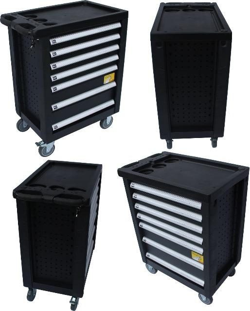 StahlKaiser Werkzeugwagen Werkzeugschrank rollbar Werkstattwagen befüllt Werkzeugkasten Tool Box Chest Trolley