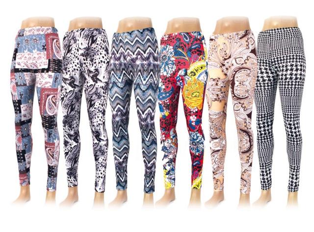 Damen Leggings Hose Damenleggings Leggins Mix Farben nur 1,79 Euro