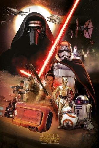 27-83136, STAR WARS Poster Episode 7 - Montage 91 x 61 cm