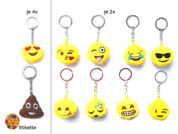 """Smiley Schlüsselanhänger Emoticon """" Mix """", 7cm"""