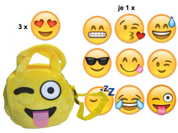 "Smiley Täschchen Emoticon "" Mix "", 18cm"