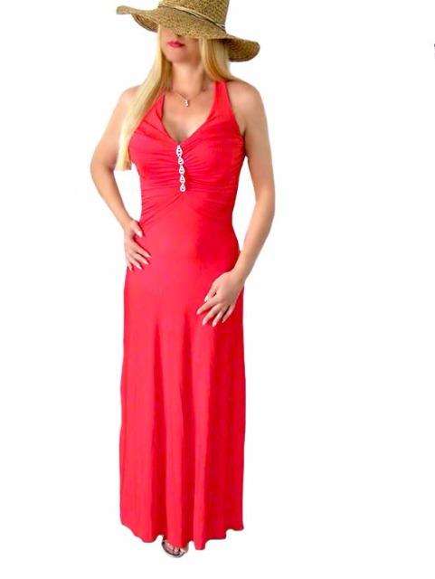 Kleid Kleider Maxikleid Damen Abendkleid mit Strass nur 7,99€