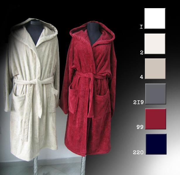 klassischer Bademantel für Damen & Herren - Premium Qualität,100% Baumwolle-500 g/m²- Made in EU