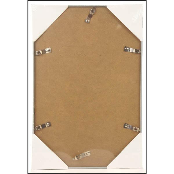 28 083305 bilderrahmen 30x45cm silbern mit passepartout. Black Bedroom Furniture Sets. Home Design Ideas
