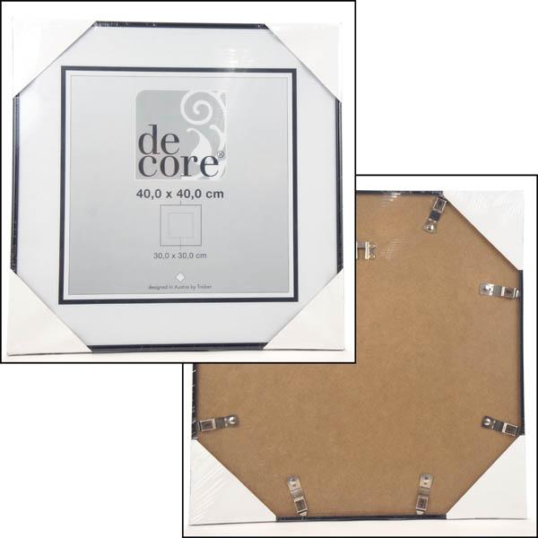 28 083718 bilderrahmen 40x40 cm schwarz mit passepartout. Black Bedroom Furniture Sets. Home Design Ideas