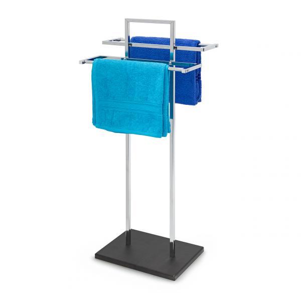 handtuchst nder edelstahl holz 14870158. Black Bedroom Furniture Sets. Home Design Ideas