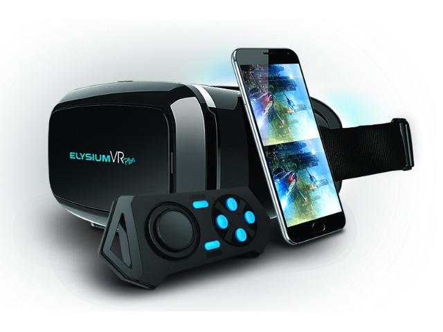 Unterhaltungselektronik Großhandel: GoClever Elysium VR Plus Brille 3D virtual reality Cardboard mit Controller für Smartphones