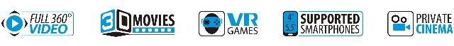 GoClever Elysium VR Plus Brille 3D virtual reality Cardboard mit Controller für Smartphones