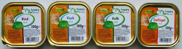 Palette Katzenfutter 100gr. hochwertiges Nassfutter *NUR 0,11€ pro Schale*