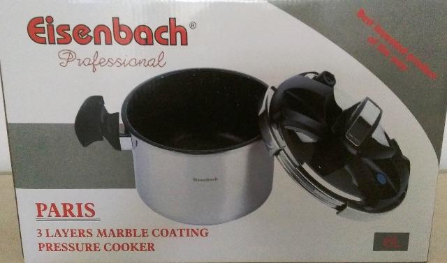 eisenbach schnellkochtopf 8 liter mit marmor beschichtung. Black Bedroom Furniture Sets. Home Design Ideas
