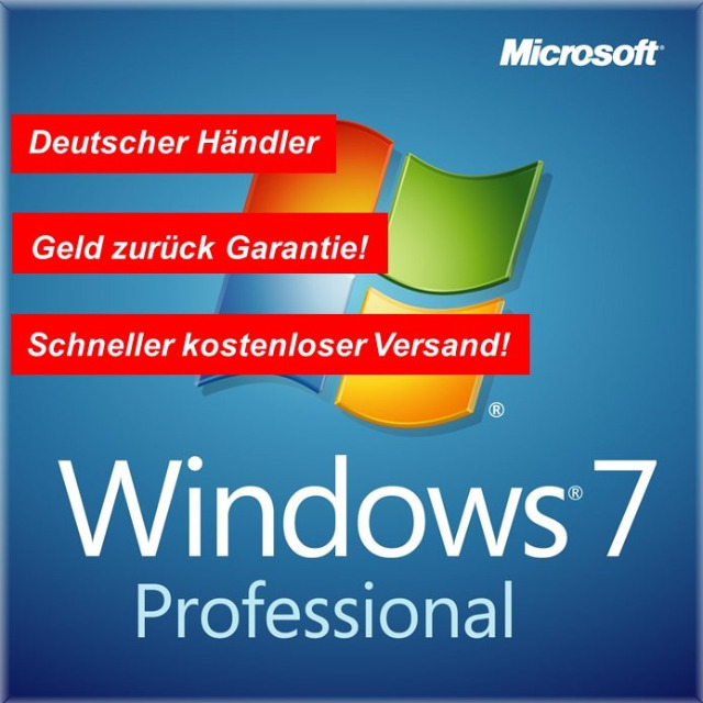 Windows 7 Professional 64 BIT DVD+COA Aufkleber BLITZVERSAND!