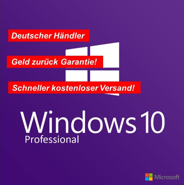 Windows 10 Professional 64 BIT DVD BLITZVERSAND!