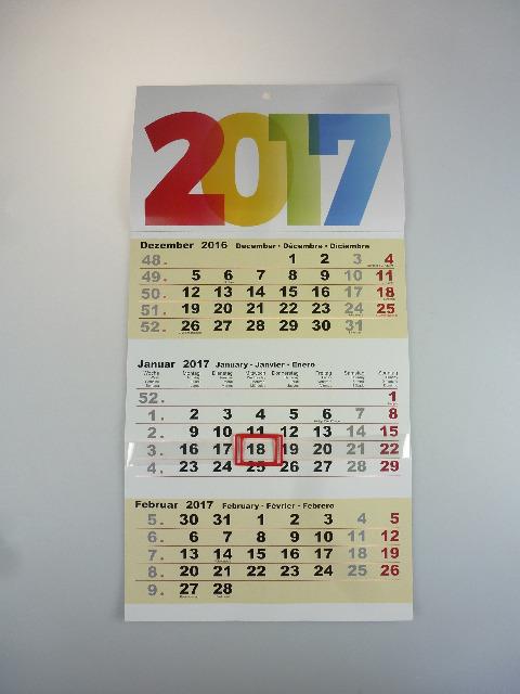 12 76108 3 monatskalender 2017 3 monate sichtbar wandkalender 15020401. Black Bedroom Furniture Sets. Home Design Ideas