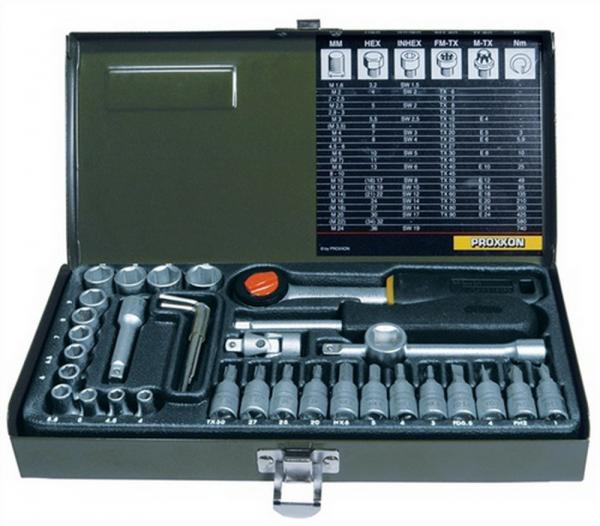 Steckschlüsselsatz CV. MEC1/4-13PR 4KT 36tlg. 1/4Zoll PROXXON mit Driver-System