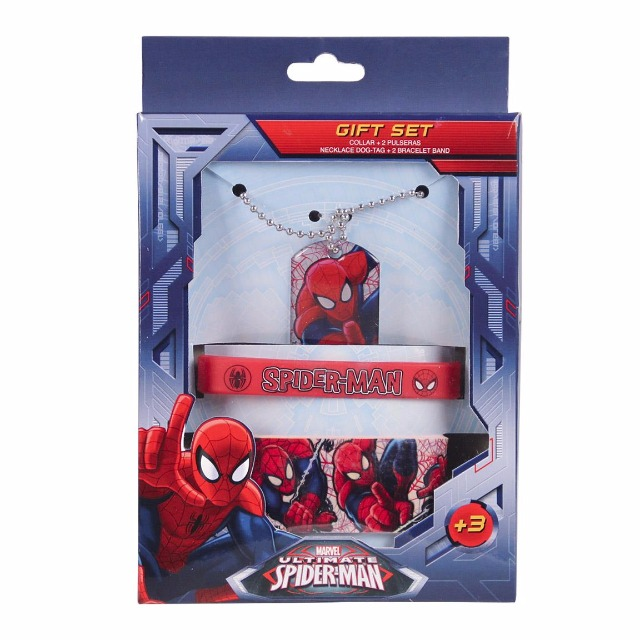 Accessoires Set (Halskette, Armband, Rubberband) Spiderman