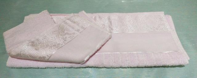 Handtuch Badetuch Set mit Stickerei in Geschenke Etui 2 teilig, 50x70 cm und 70x140 cm