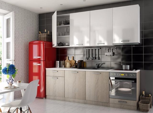 Hochglanz Küche 240cm direkt ab Werk