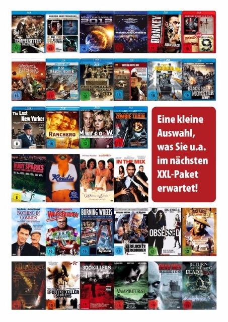 DVD, Video, Tonträger Großhandel: Blu-rays XXL Paket Mix ab 1,09 EUR