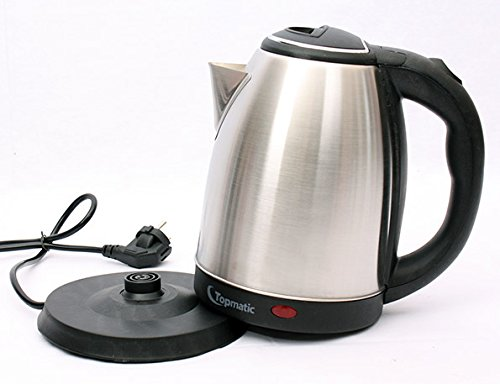 Topmatic Edelstahl Wasserkocher 1,8 L Fassungsvermögen  ~ Wasserkocher English