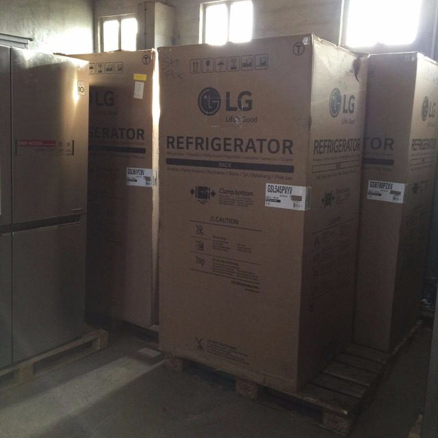 LG SIDE BY SIDE AMERICAN FRIDGES