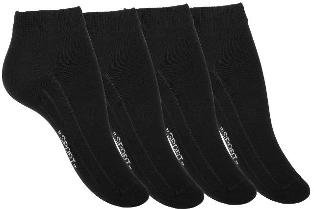 Damen Sneakersocken SPORT LINE mit Rippsohle in schwarz