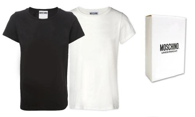 Moschino T-Shirts Herren Mix schwarz weiß