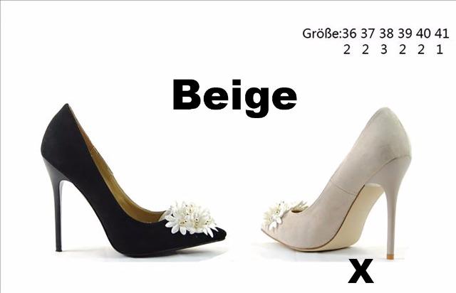 High Heels Damenschuhe Pumps Damen Schuhe Beige Nr-C5-6360-P