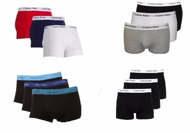 Calvin Klein Boxershorts 3pack different colours