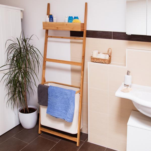 bambus leiterregal f rs bad 15118680. Black Bedroom Furniture Sets. Home Design Ideas