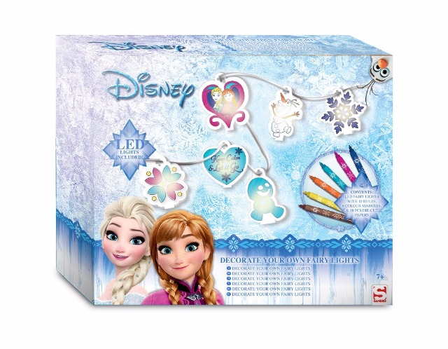 LED Lichterketten zum bemalen Disney Frozen