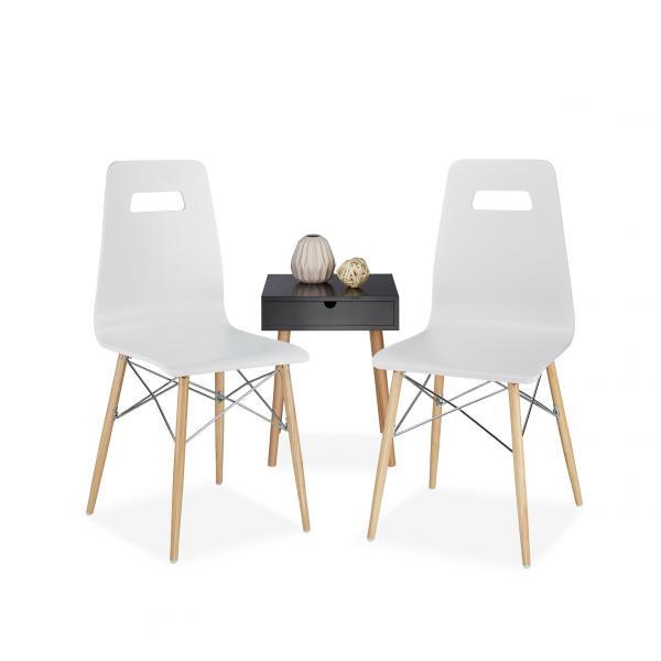 Design stuhl arvid holz 2er set 15124701 for Design stuhl holz