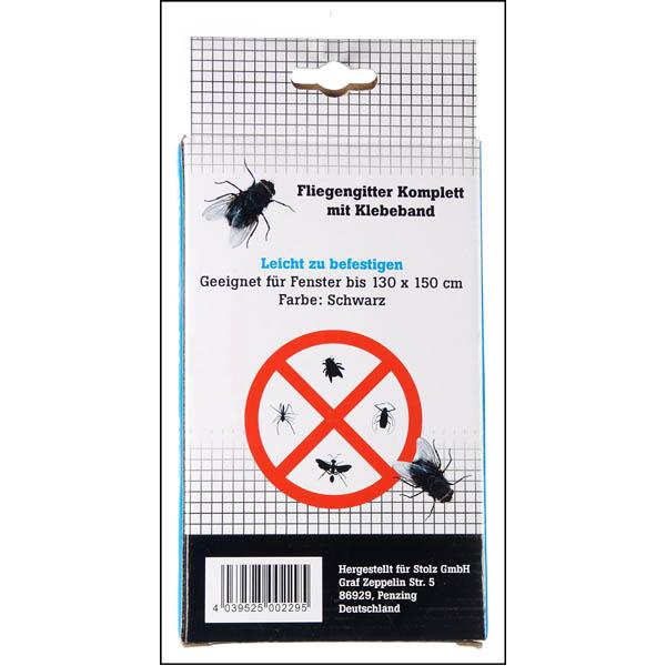 28 002295 fensterfliegengitter wei 130 x 150 cm mit 5 60 m klettband individuell. Black Bedroom Furniture Sets. Home Design Ideas