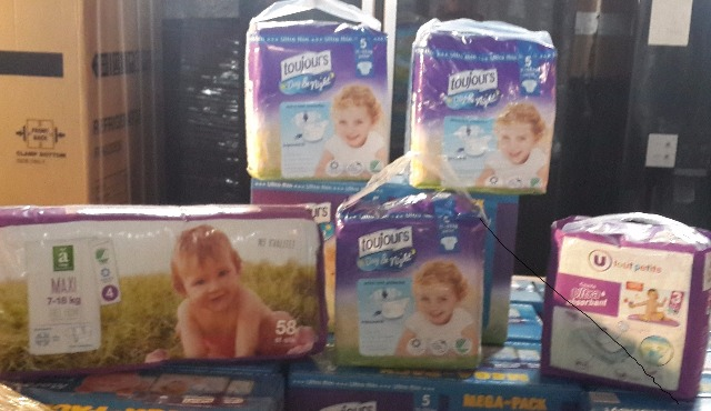 BABY DIAPERS/PAMPERS BRANDED