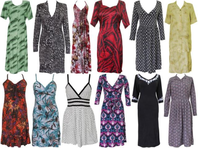 Schöne Damenkleider im Mix!