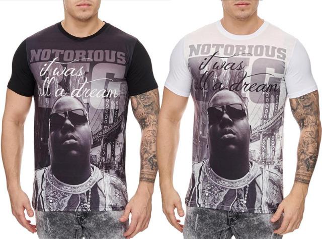 Herren Men Kurzarm T-Shirts Rundhals Mix Motivdruck T-Shirt - 6,90 Euro