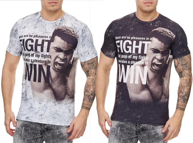 Herren Men Kurzarm T-Shirts Rundhals Motivdruck T-Shirt - 6,90 Euro