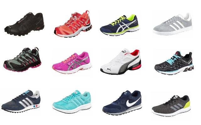 Herren und Damen Sneakers von Adidas, Nike, Asics, Reebok und Salomon, Neu & OVP
