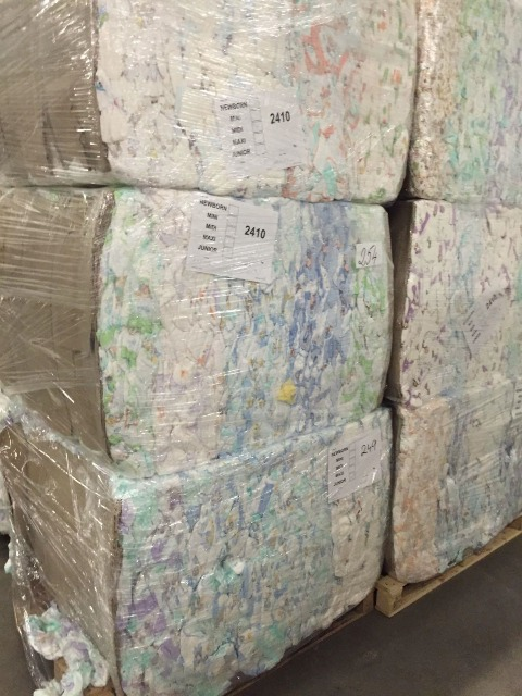 B Grade Baby Diapers in Bales Made in Czech Republic