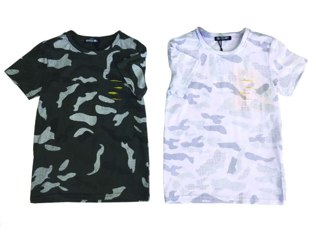 Kinder Used Look Camouflage T-Shirt Shirts Oberteil Kindershirts Modische Sommer T-Shirts - 4,99 Euro