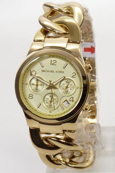 Michael Kors Damenuhr Chronograph MK3131 Runway Gold