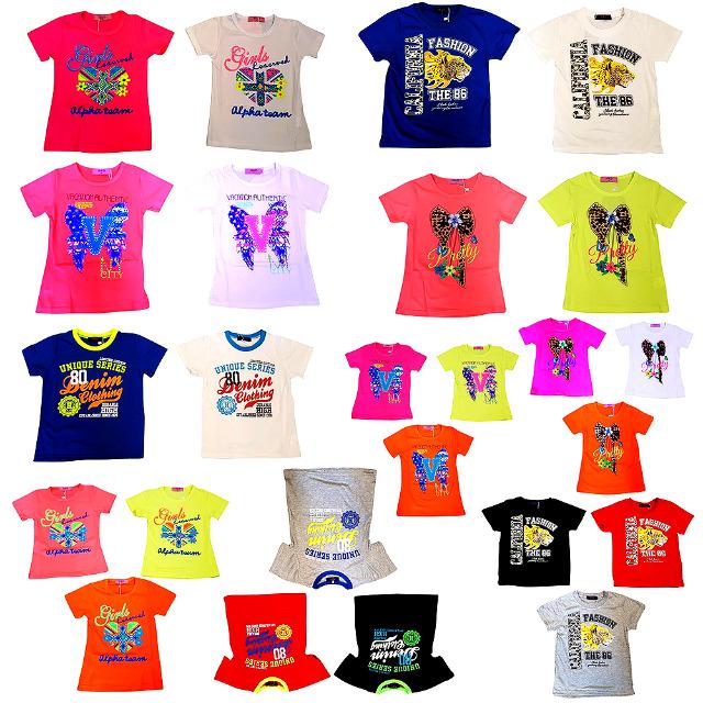 Jungen Mädchen T-Shirts Oberteile Mix, Gr. 2-12 J. je 2,60 EUR