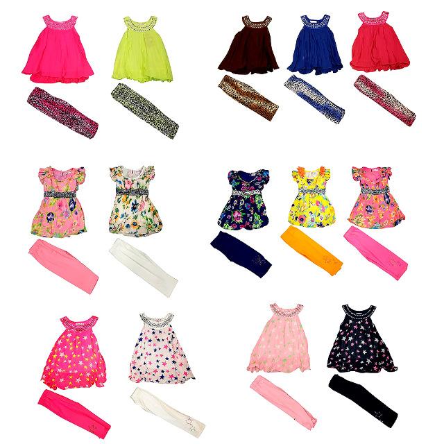 Kinder Mädchen Tops Trägershirts Kleider 2-12 J.